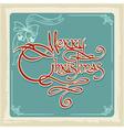Merry Christmas Invitation Card vector image