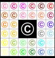 copyright sign   felt-pen 33 vector image