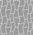 seamless pattern with a grid of ropes vector image