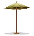 A table umbrella vector image