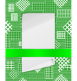 checkered structure vector image vector image