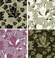 seamless set of floral patterns vector image vector image