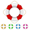 set of life buoys vector image