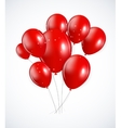 Set of Red Balloons vector image