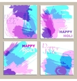 Colorful powder paint Holi festival background vector image