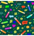 Seamless pattern with pencis vector image