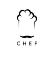 abstract icon design template of chef vector image vector image