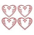 Valentine heart pictogram set vector image