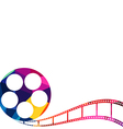 Abstract film reel polygon low-poly vector image