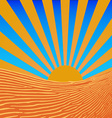 Background sun beams vector image
