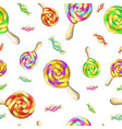 candy set caramel on stick vector image