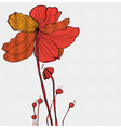 floral red card vector image