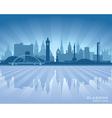 Glasgow Scotland skyline city silhouette vector image