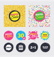 sale speech bubble icons black friday symbol vector image