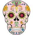 Scull MexicoPop-art vector image