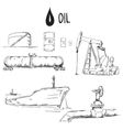 Set of oil industry objects vector image