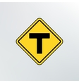 T intersection icon vector image