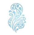 Water splash waves abstract design element vector image