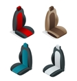 Modern set of car seat icons Editable automotive vector image