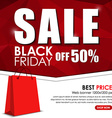 Set of web banner for sales on Black Friday vector image vector image