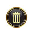 Trash can icon vector image vector image