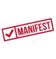 Manifest rubber stamp vector image