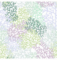 corals seamless pattern in light shades vector image