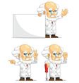 Scientist or Professor Customizable Mascot 5 vector image vector image