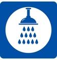 blue shower head icon vector image vector image
