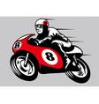 retro racing motorbike vector image vector image