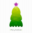 Christmas card Polygonal triangular Christmas tree vector image