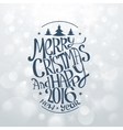 Hand Drawn Christmas Banners Typography vector image