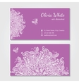 business card Violetbackground vector image vector image