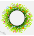 round natural frame vector image vector image