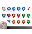 gps and map icon set vector image vector image