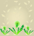abstract dandelion background vector image