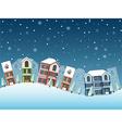 cityscape winter4 vector image