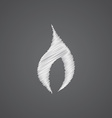 fire sketch logo doodle icon vector image