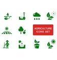 green agriculture icon vector image