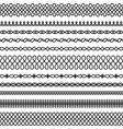 set seamless twisted brushes 2 vector image