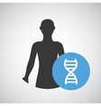 silhouette person medical genetic icon design vector image