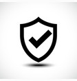 tick shield security icon vector image