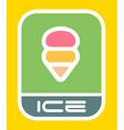Urban ice cream sign vector image
