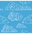 Clouds Hand Draw Sketch Background Pattern vector image