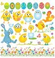 Funny Easter set vector image