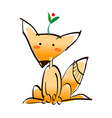 Fox sitting on the floor vector image vector image