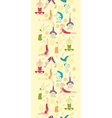 Workout fitness girls vertical seamless pattern vector image vector image