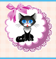 doily cat vector image vector image