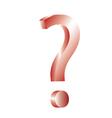 3d question mark vector image
