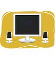 flat screen computer vector image